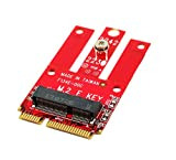 Ableconn MPEX-M2WL Mini PCIe Adapter with M.2 Key E Slot - Support PCIe and USB Based M.2 E Key and A-E Key Module for Mini PCI Express - Work for WiFi & Bluetooth M2 Module