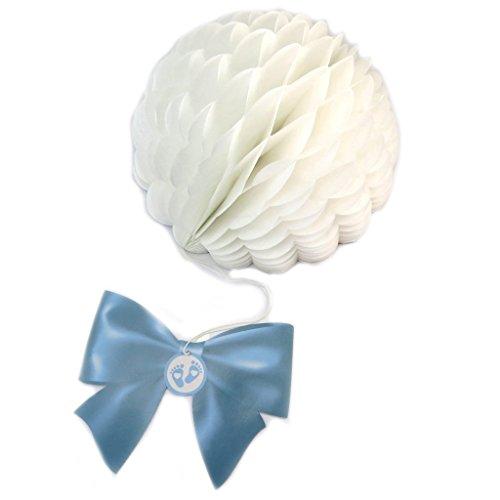 Les Trésors De Lily [P3124 - Suspension Boule 'Baby Shower' Bleu