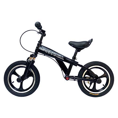 Bicicleta sin Pedales Bicicleta de equilibrio Big Kid Boys Teens con rueda de aire de 16 pulgadas, Sin pedales Bicicleta de cuadro de acero resistente con freno de mano, reposapiés, asiento ajustable