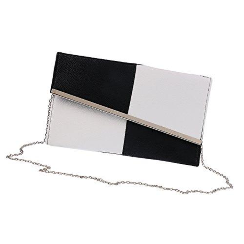 IPOTCH PU Leder Damen Handtasche Abendtasche Kette Umhängetasche Abendhandtasche Schultertasche Kettentasche