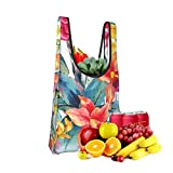 Mark Stars Tropical Leaf Pattern 1 Fold Eco-Friendly Shopping Bags Large Capacity Daily Necessity