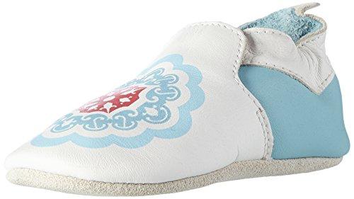 Bobux Unisex Baby Marokkanische Fliesen Slipper, Weiß (Weiß), Small EU