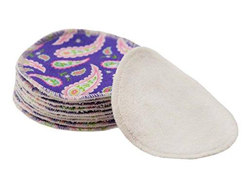 ImseVimse Lot de 10 disques de coton démaquillage lavables (Violet)