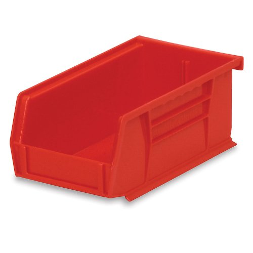 Akro-Mils 30220 Plastic Storage Stacking Hanging Akro Bin, 7-Inch by 4-Inch by 3-Inch, Red, Case of 24