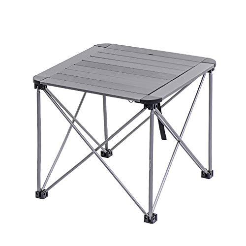 WTT eettafel voor buiten, draagbaar, verstelbaar, klaptafel, multifunctioneel, thuis, van aluminiumlegering, kan worden gedraaid (kleur: B, afmetingen: 52 x 52 x 46 cm)