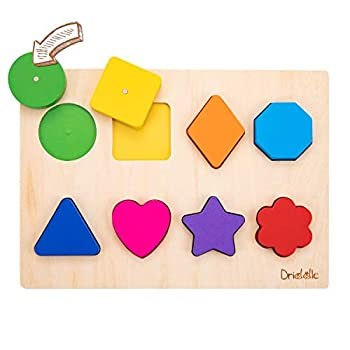 Magnetic Wooden Educational Shape Puzzle - Learn Colors & Shape Recognition Toy – Toddler Preschool Game – Kids Montessori Education