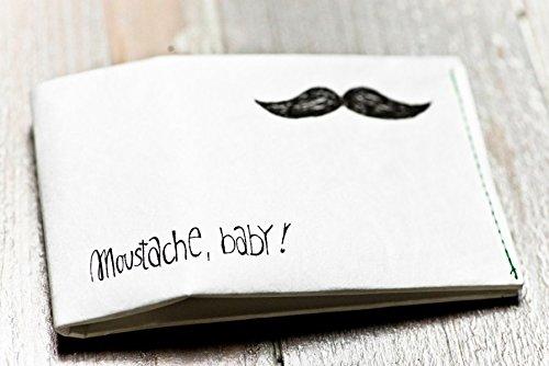 Paprcuts Portemonnaie - Moustache, Baby!: Ultraleichte Geldbörse - reißfest, wasserfest, recyclebar
