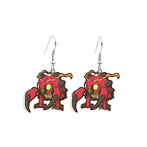 Anime Digimon Adventure Agumon Gabumon Piyomon Tentomon Palmon Cute Acrylic Resin Epoxy Dangle Earrings Gifts 8