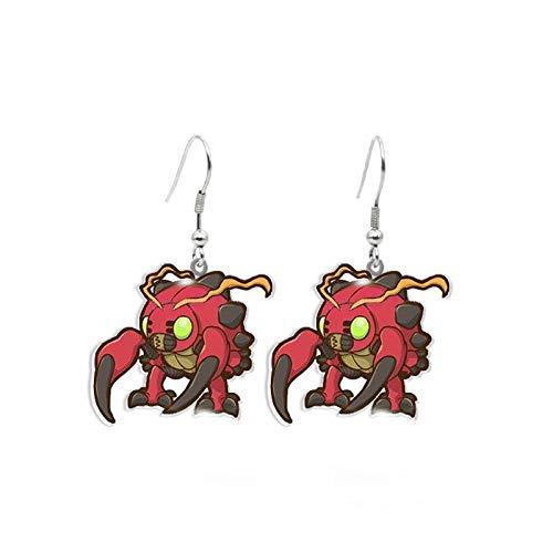 Anime Digimon Adventure Agumon Gabumon Piyomon Tentomon Palmon Cute Acrylic Resin Epoxy Dangle Earrings Gifts 8