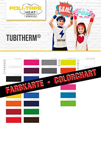 POLI-TAPE TUBITHERM Flock Farbkarte/Farbmuster