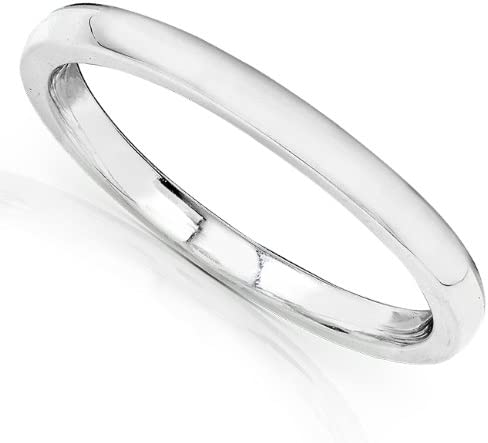 Kobelli 14K White Gold Wedding Band (1.7mm)