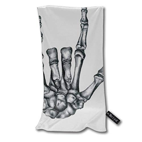 Vilico Love Never Dies - Toalla de baño pequeña superabsorbente, ultra suave, toallas de mano multiusos para baño, piscina, gimnasio y spa, 30,5 x 27,5 cm
