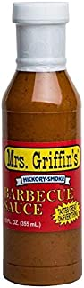 Mrs. Griffin's Barbecue Sauce, Hickory Smoke, Southern Favorite since 1935, great for grilling, smoking, or baking, one, 12 ounce bottle