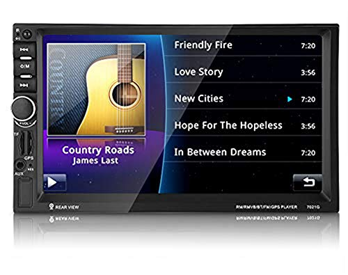 """Audio Doppel Din, MP5 Player, Bluetooth GPS Navigation, Auto Video Rückfahrmonitor mit HD TFF Touchscreen, 7\"""" Digital LCD Monitor für Audio- und Videowiedergabe, Navigation, Umkehren …"""