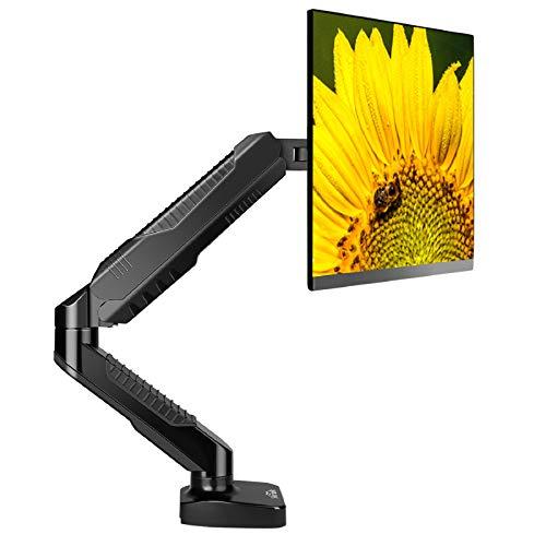 SIMBR Soporte Monitor para PC Y Pantalla LCD LED de 15'-27' Soporte para Mesa y Escritorio con VESA 75x75mm y 100x100mm Carga Máxima de 6.5kg