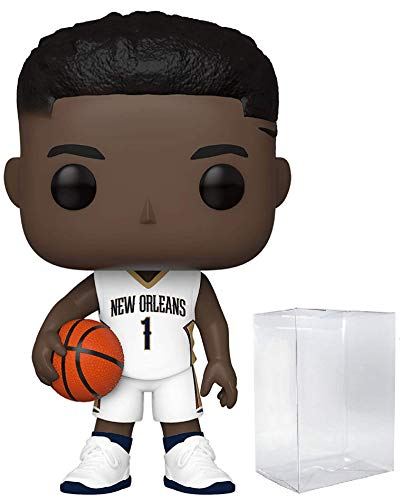 Zion Williamson New Orleans Pelicans White Jersey #62 Pop Sports NBA Action Figure (Bundled with Ecotek Pop Protector to Protect Display Box)