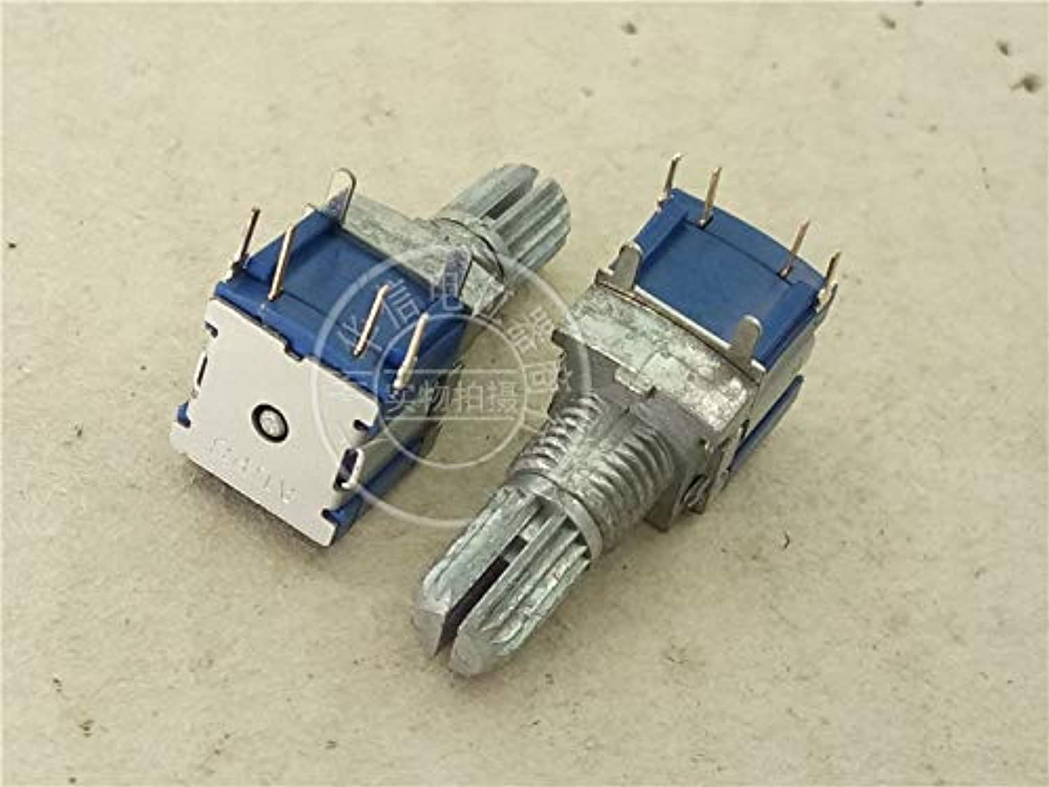 3pcs for ALPS SRBM1L0800 4 feet Potentiometer Encoder Step 20 Points Shaft Length 15MM Spend with Fixed pin