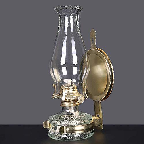Lámparas de Aceite Vintage Horse Lamp Lámpara de aceite antigua Bronce Nostálgico Kerosene Linterna Fallo de energía Luz de emergencia Lámpara de la tienda al aire libre Lámpara que acampa