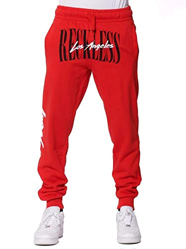 Young and Reckless - LA Vintage Sweatpants - Red - M - Mens - Fleece - Sweatpants - RED
