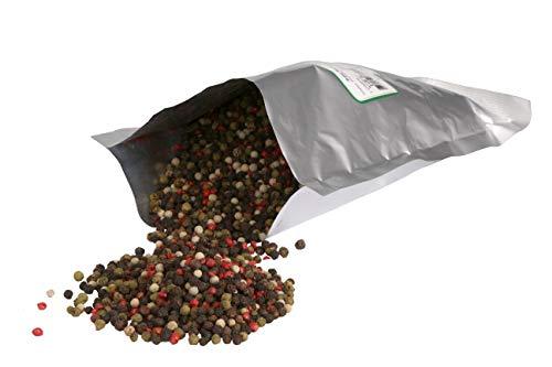 Bunter Pfeffer ganz 0,400 kg mit ROSA PFEFFER, Gewürzgroßhandel Krefeld, Prima Gewürzt