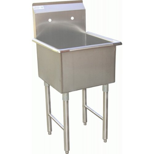 1 Compartment Preperation Sink15'x15' Stainless Steel Utility Prep NSF. SE15151P