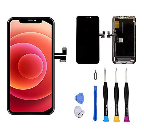 Remplacement d'écran Premium Compatible avec iPhone 11 pro, Remplacement d'écran iPhone 11 pro (5.8 Pouces) (modèles A2160, A2217, A2215) Kit de réparation de numériseur d'écran Tactile Assemblage