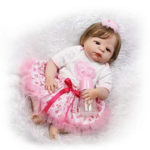 TOYSBBS Reborn Baby Doll Souple Simulation Silicone Vinyle 55CM Enfant ami magnétique Bouche réaliste jouet garçon fille Yeux ouverts Avec Tenue EN71