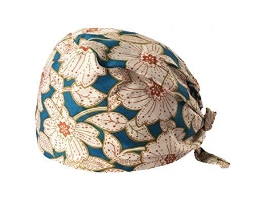 Bonnet chirurgical réglable avec bandeau de transpiration pour queue de cheval chimio Casquette unisexe en coton chirurgical (#81)