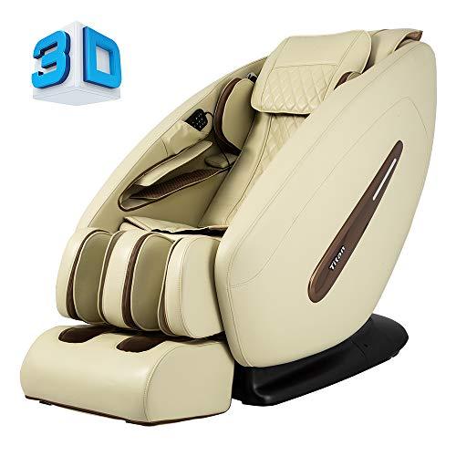 Titan Pro Commander FDA 3D Massage Full Body Massage Recliner Zero Gravity Best Massage Chair Air Compressor Leg Massager (Cream)