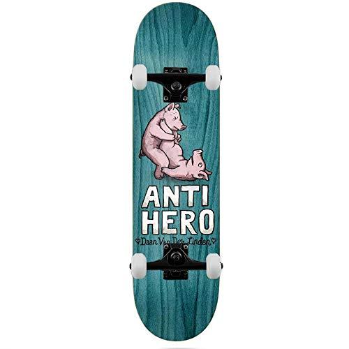 Anti Hero Deck Daan Lovers II - Skateboard completo, 21,3 cm