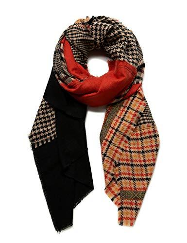 Desigual Womens FOUL_MILDRED PATCH Fashion Scarf, Red, U