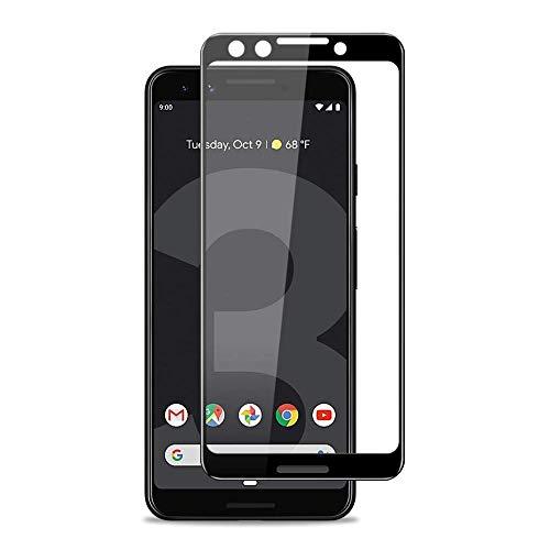 Protetor de tela para Google Pixel 3, BoxWave® [Curva de Vidro ClearTouch] Protetor de tela de vidro temperado 9H com Curve para Google Pixel 3 – Preto Jet