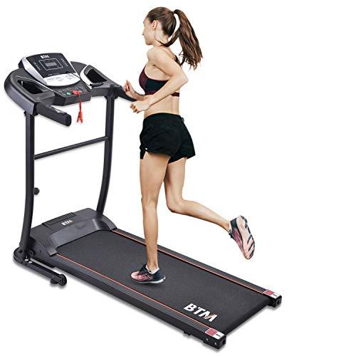 Cinta de correr eléctrica plegable para uso doméstico Máquina para correr motorizada con consola LCD Motor de 1.5 HP 12 programas Cinturón antideslizante Máquina para caminar USB Equipo de gimnas