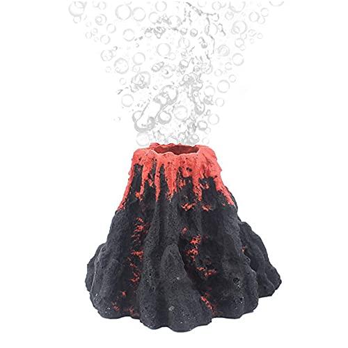 Adorno de Volcán de Acuario, Pecera Acuario Volcán, Colcán de Burbujas de Aire Piedra, Volcán Pecera Decoración, Volcan Acuario, para Pecera, Burbujeador de Aire de Acuario