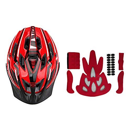 MagiDeal MTB Helmet Cycling Mountain Bike Safety Helmet with LED Rear Light