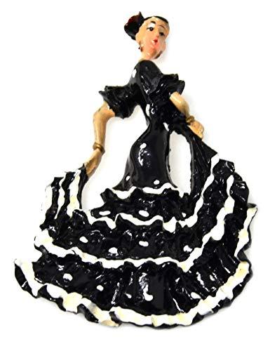 FD5 Bailarina de flamenco Imán de refrigerador Bailarín Baile español Refrigerador Insignia magnética España regalo
