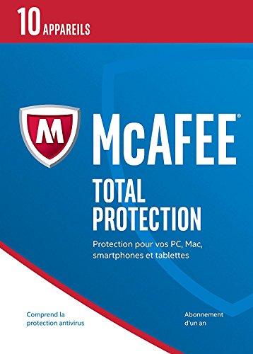 McAfee Total Protection 2017 10 appareils [Abonnement de 1 mois]