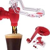 Yalatan Dispensador de coque, Al revés Botella de Cola Soda Agua Suave Dispensador de bebida Grifo Titular de ahorro