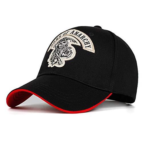 Kuletieas Cap Sons of Anarchy Stickerei Patch Reaper Crew Visier Mann Baseball Cap Punk Black Motorrad Caps B