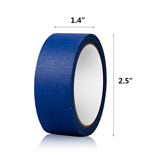 Blue Masking Tape, 16 Roll Multi Purpose Painter Tapes, 1.4 Inch/36 mm Wide,Medium Adhesive Masking Tape with No Residue Behind, 10 Yard/Roll Photo #4