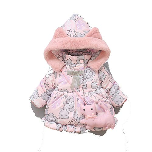 Beste Dagboek Winkel Baby Meisjes Jas Winter Jas Dikke Warme Hooded Kat Oor Bovenkleding Kinderen Kinderen Babyprinten Kleding