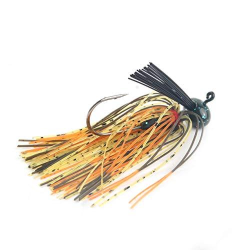 NewIncorrupt 1 Pz 12g Spinnerbait Grande Bocca Bass Pesce Esca in Metallo Paillettes Barba Pike Attrezzatura da Pesca Gomma Jig Morbido Richiamo di Pesca