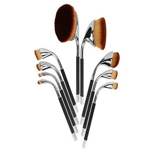 Beaupretty 9PCS Compo Escovas Eyeshadow Makeup Brushes Set Clube de Golfe Em Forma de Escova Cosmético Premium Sintético Fundação Escova de Prata