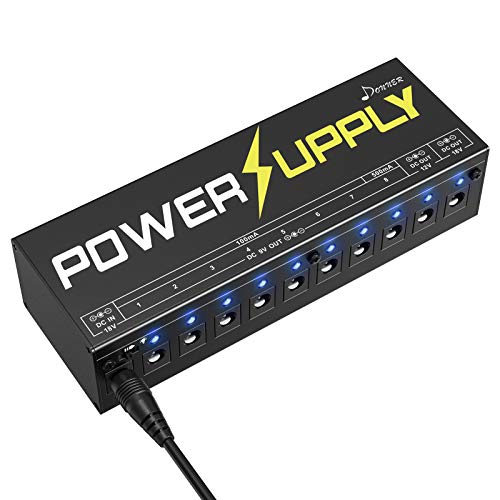 Donner DP-1 Guitar Power Supply 10 Isolated DC Output for 9V/12V/18V Effect Pedal
