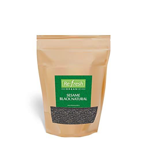 Refresh Organic Sesame Black Natural 400 Gm (2 Pack * 200 Gm) / Black Til