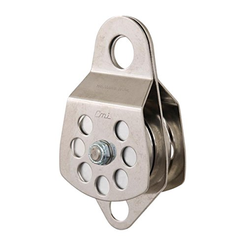 """CMI 3"""" Double Pulley with Bearings, Stainless Steel Sideplates and Aluminum Sheaves - RP105D"""
