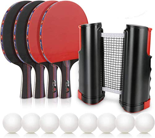 Lowest Prices! FENGSHUAI Table Tennis Set Fitness Equipment with Telescopic Table Tennis net for Hom...