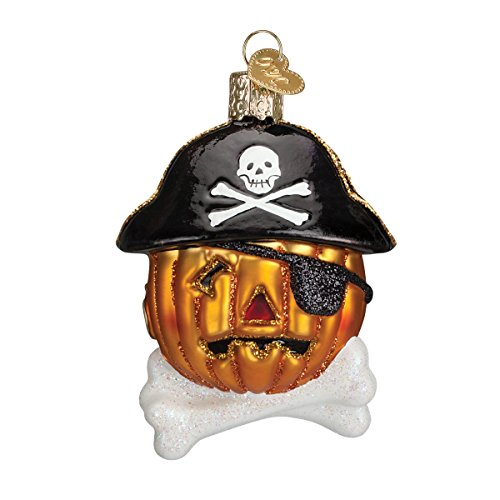 Halloween Pirate Pumpkin with Bone Ornament for Tree