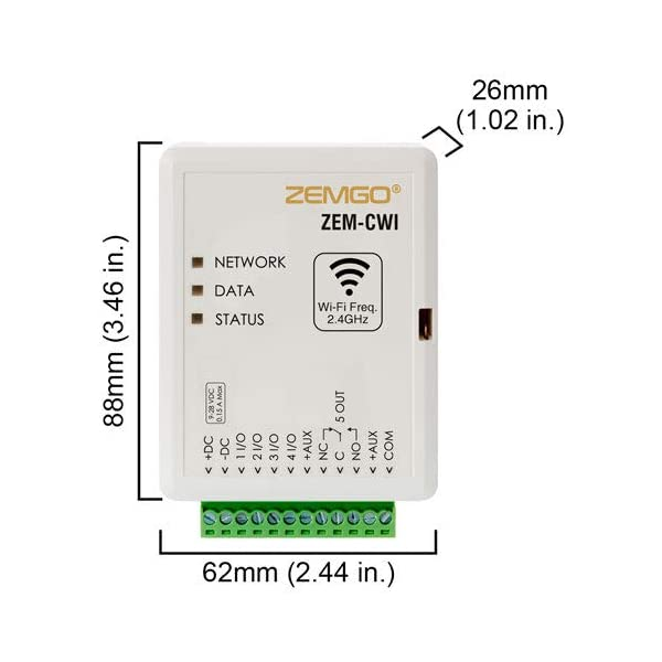 Zemgo FPC-8439 Smart Mobile WiFi Controller for Access Control with Android + Apple App, Web Browser + Smartphone Remote…