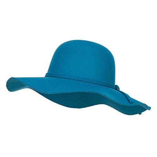 Polyester Floppy Wide Brim Hat - Teal OSFM